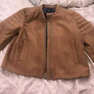 Women's gap moto jacket